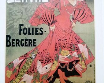 Jane Derval Folies Bergere Vintage Poster Print