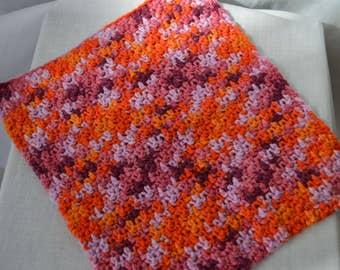 "9"" square cotton dishcloth"