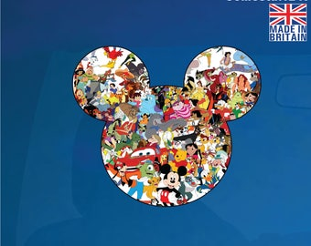 Mickey Mouse Head Silhouette Disney Characters Wall Art Car Decal/Sticker-MMAC1