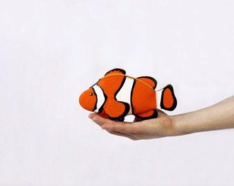 Clown Fish Felt Pouch