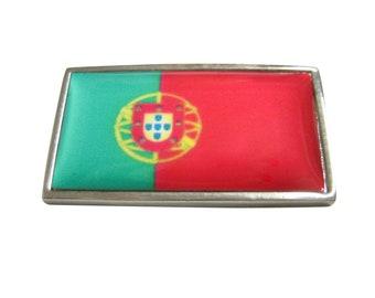 Thin Bordered Portugal Flag Magnet
