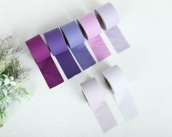 4 cm New Solid Series Cotton Bias - Purples - 10 Yards - By the Roll - 81446