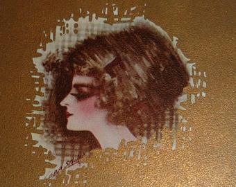 A/S Cobb Shinn Pretty Woman Antique Birthday Postcard