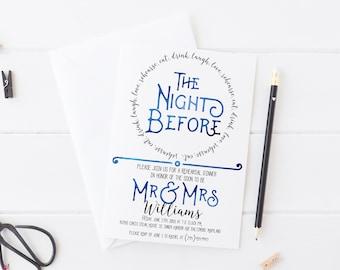 Rehearsal Dinner Invitation - Rehearsal Dinner Invitation Printable - The Night Before Rehearsal Dinner Invitation
