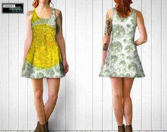 Yellow Bubbles Flare Dress