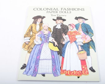 Colonial Fashions, Paper Dolls, Tom Tierney, Clothes, Illustrated, 1995, Softcover, Collection, Vintage, Nostalgia ~ 161203