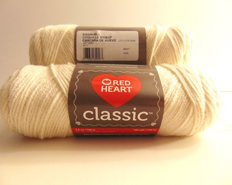 Eggshell - Red Heart Classic yarn worsted weight 100% acrylic