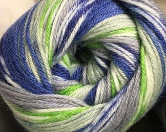 Cascade Heritage Prints Yarn Green Blue Gray White 437 yards Super Fine Wool Nylon Sock Yarn Color 58