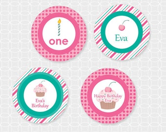 Cupcake Party Cupcake Wrappers - Personalized Printable
