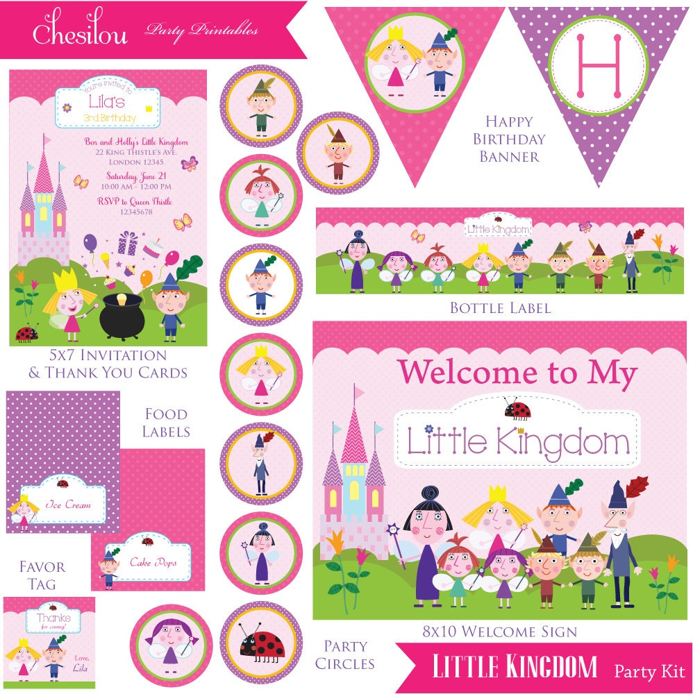 Customized Ben and Holly\'s Little Kingdom Digital