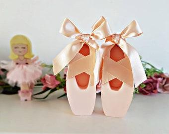 Freestanding ballet pumps, ballerina decor, girls room, ballet shoes, shelf decor
