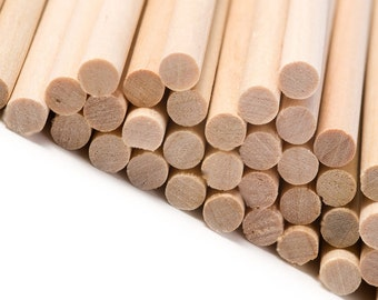 230x6mm Round Wooden Lollipop Cake Pop Sticks Crafts Lolly Lollies Wood Dowels