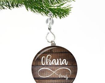 Ohana Means Family- Ohana Ornament- Family Christmas Ornament- Hawaiian Ornaments- Infinity Ornament- Family Forever