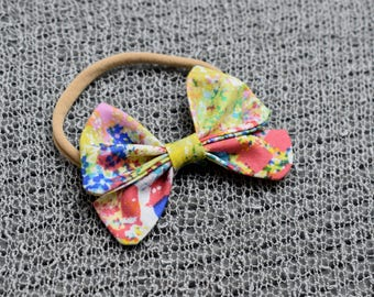 Bright Color Pop Baby Girl Fabric Bow