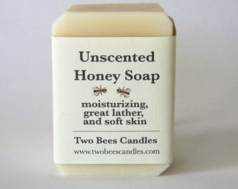 Unscented Plain Honey Soap, with natural organic ingredients