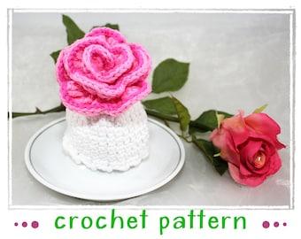 Rose - Egg Cozy - Crochet Pattern - PDF