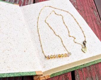 beaded bar necklace, gemstone bar necklace, gold bar necklace, silver bar necklace, crystal necklace, pearl necklace, birthstone necklace