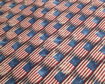 Made in the USA-Flags Cotton Fabric