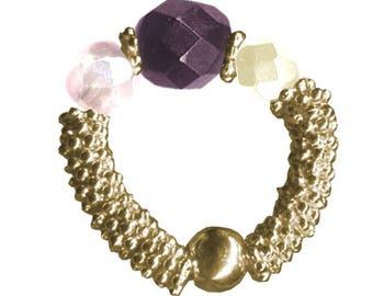 Ring Luxor gold violet Night KIT