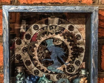 Steampunk Mermaid Shadowbox