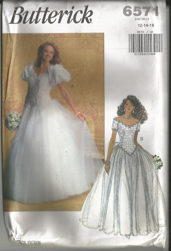Vintage Gown Sewing Pattern / Ball Gown / Prom Gown / Cinderella ...