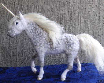 Unicorn Needle felted wool Animal  by Carol Rossi Created Just For You!
