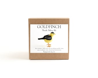 DIY Kit - Goldfinch Needle Felting Kit - Needle Felted Animal Kit