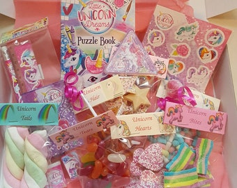 Unicorn party hamper, sweets, everything for the unicorn lover