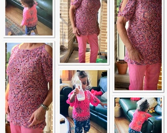 Patterns crochet sweaters for summer.
