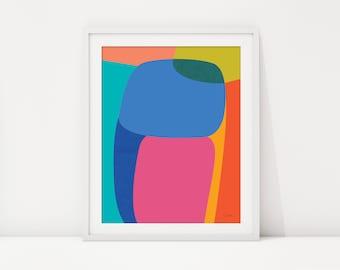 Abstract Art, Colorful Art, Contemporary Art, Modern Art, Fine Art, Art Print