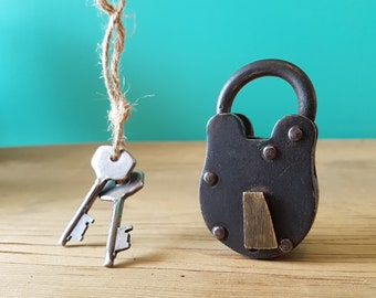 Beautiful Miniature Antique Lock - Working