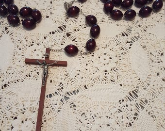 Large wooden rosary