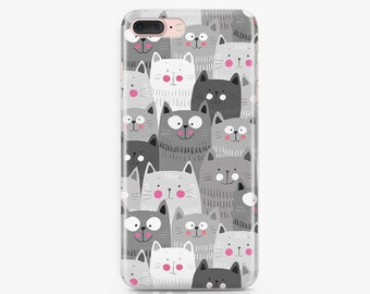 Cats iPhone 8 Plus Case Samsung Galaxy S7 Case iPhone X Case Samsung Galaxy S8 Case iPhone 8 Case iPhone 7 Plus Case iPhone 6s Case AC1082