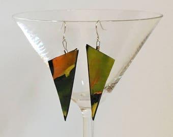 Autumn color earrings