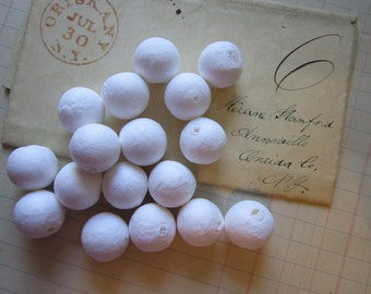 10 spun cotton BALLS - 15mm