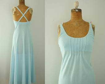 1970s maxi sundress | vintage 70s dress
