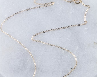 Simple Cable Chain, Plain Gold Chain, Thin Gold Chain, Dainty Gold Chain, Fine Necklace, Plain Necklace Chain, Cable Chain, Rose Gold Chain