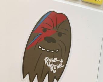 Chewbacca + David Bowie = CHEWBOWIE vinyl sticker