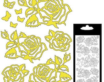 Sticker decal Stickers - pink - gold matte - STI377000