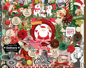 Christmas Joy - Digital Scrapbooking Full Kit