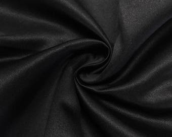 "Black Matte Satin (Peau de Soie) Duchess Fabric Bridesmaid Dress 60"" Wide Sold BTY"
