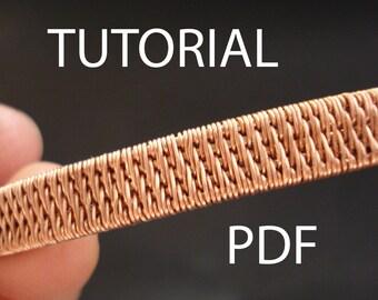Pdf tutorial, jewelry tutorial, wire wrapped jewelry tutorial, wire weaving jewelry tutorial, tutorial in handmade, wire wrap tutorial, pdf