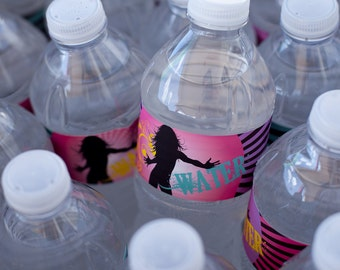 Dance Party Water Bottle Wrapper Printables INSTANT DOWNLOAD