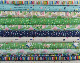 Once Upon a Rhyme SUPER Bundle fro Riley Blake Fabrics (18 Fabrics Total)