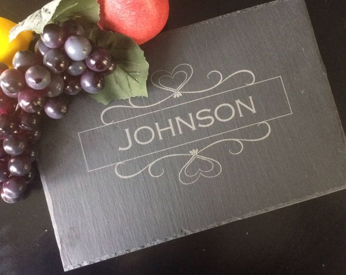 Personalized Slate Cheese Board - Real Estate Closing Gift, Personalized Engagement Gift, Personalized Wedding Gift