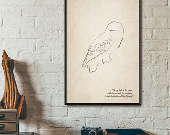 """Harry Potter Hedwig Owl Poster 24"""" x 36"""""""