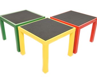 Base Ace Building Table with Black Base Plates.
