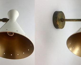 Pair of sconces in the style of Italian creations from the 50s