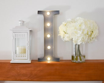 """Greek Letter Lights """"Iota"""" / Letter Marquee Light """"I"""" / Sorority Marquee Letters / Light up Letters / Sorority Lights / Marquee Signs"""