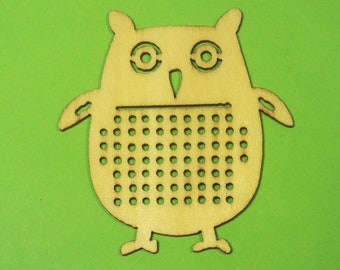 APPLIQUE Baltic wood: OWL 53 * 50 mm, 1.5 mm thick